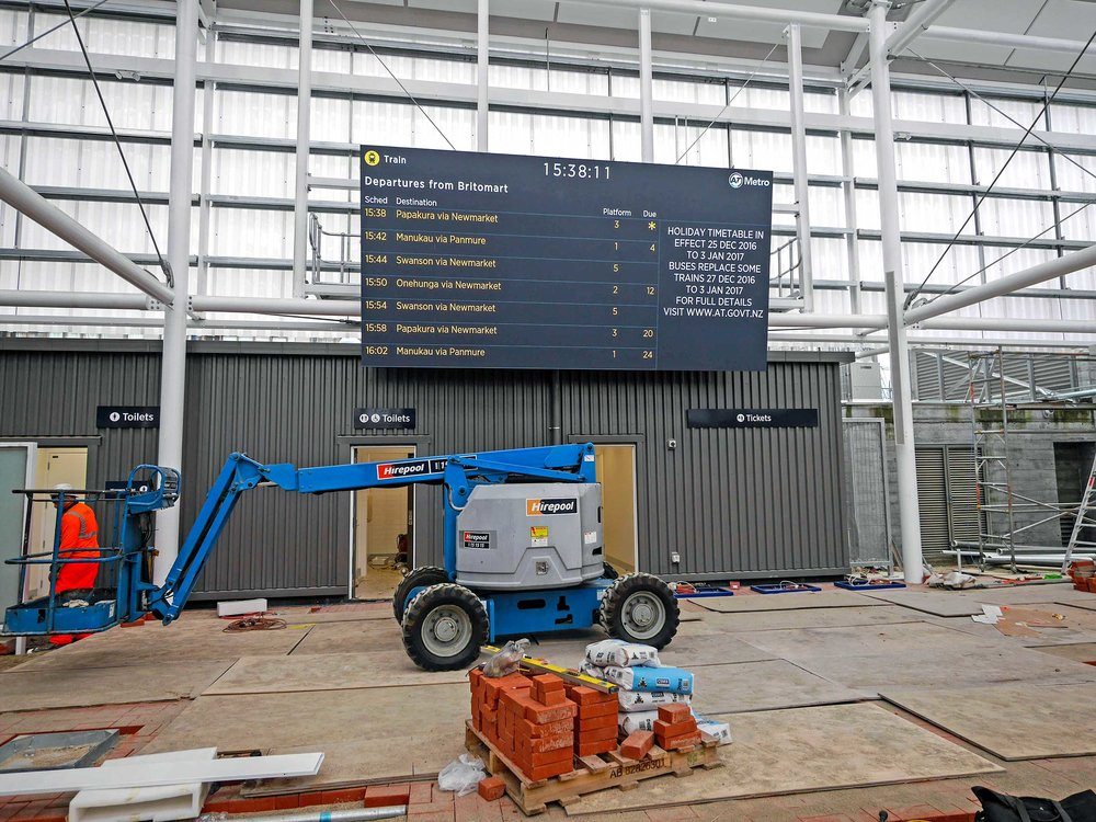 Building the temporary Britomart train station entrance