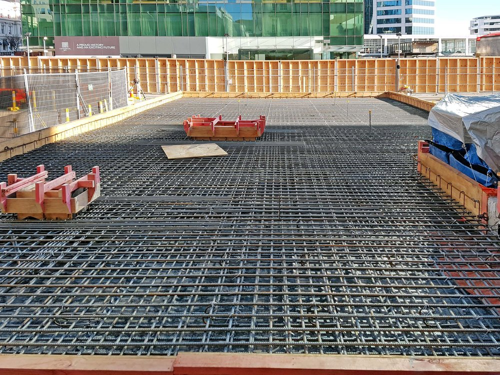 JUNE 2017- Bentonite plant foundation slab prior to a 240m3 concrete pour.