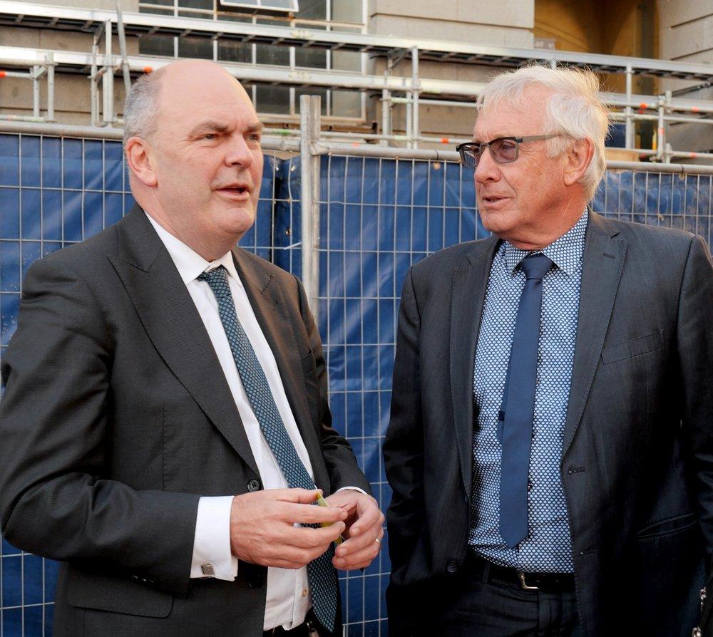 ON SITE: Finance Minister Steven Joyce speaks to CRL Project Director Chris Meale