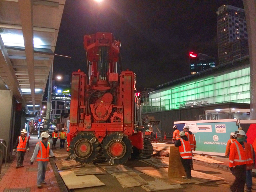 MOVING ON: Sandrine is helped along Tyler Queen in Downtown Auckland to get her inside the CPO