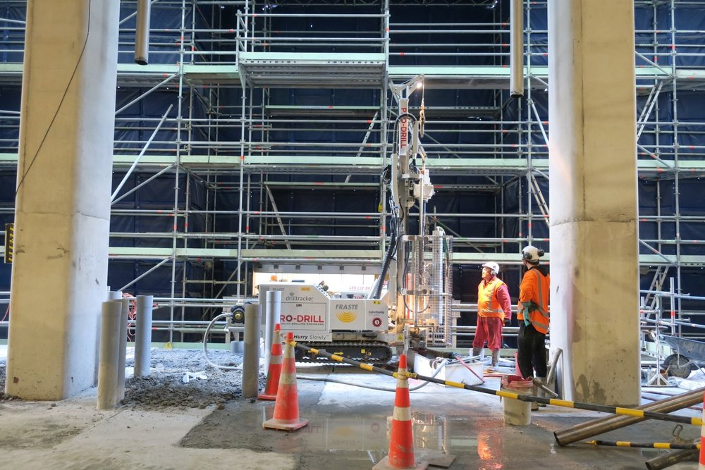 CRL construction work inside the Chief Post Office.