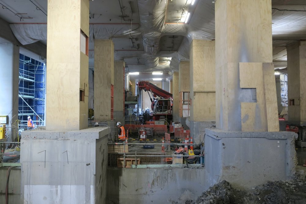 CRL construction work inside the Chief Post Office September 2017
