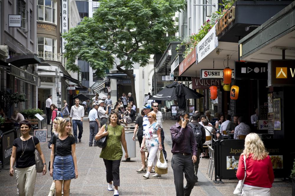 POPULAR: City shoppers enjoy Vulcan Lane