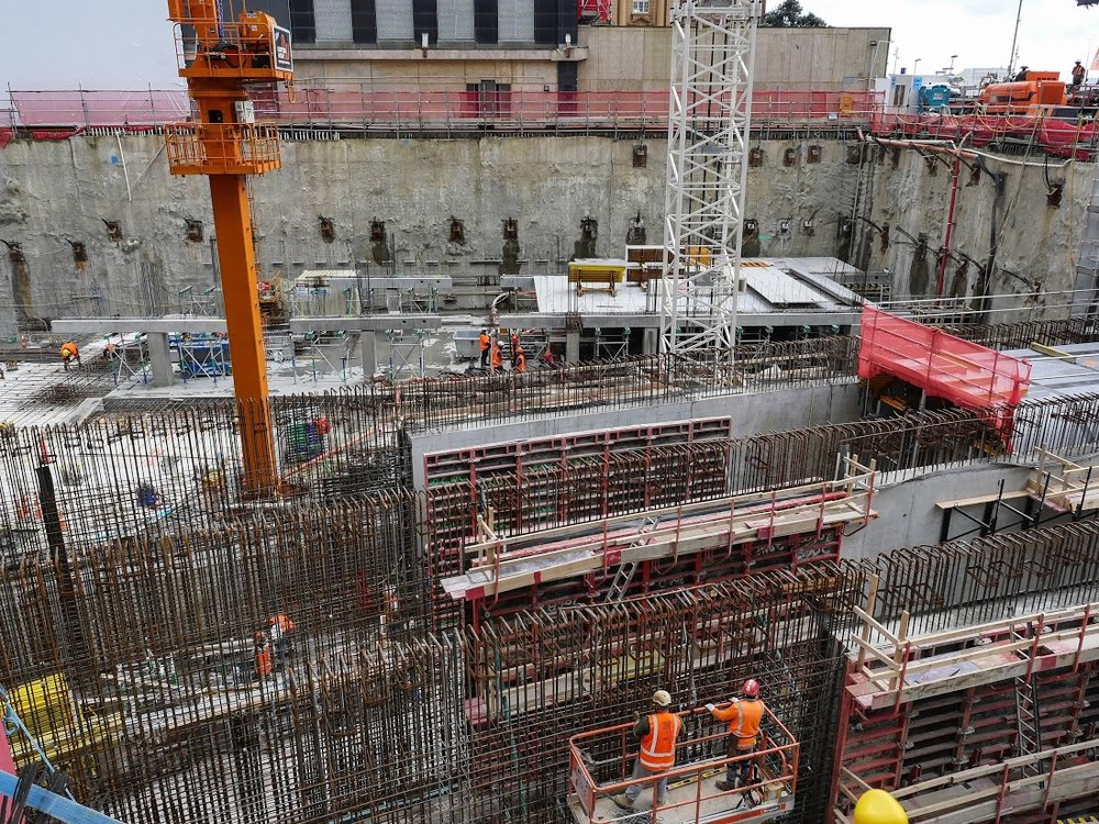 Lower Queen St/ Commercial Bay tunnel construction