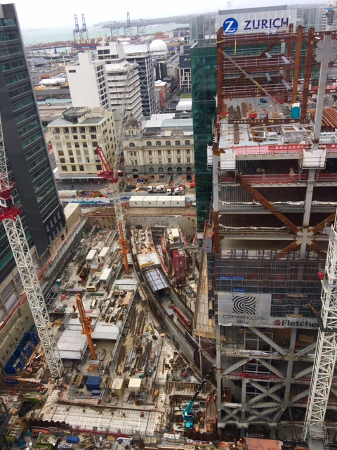 Lower  Queen St Commercial Bay tunnel construction