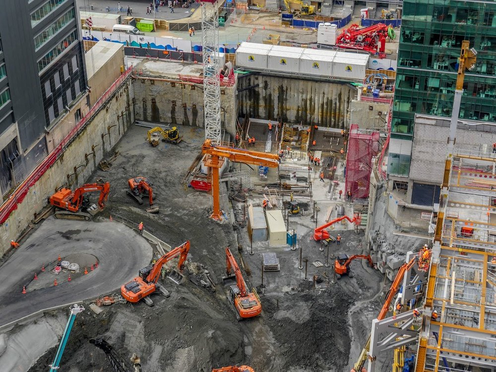 Commercial Bay- building the CRL tunnels