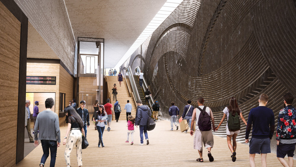 INSIDE: The latest image of inside the Mount Eden station