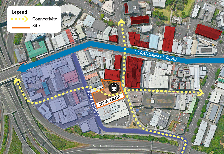 KRd East Street and new lane connectivity map