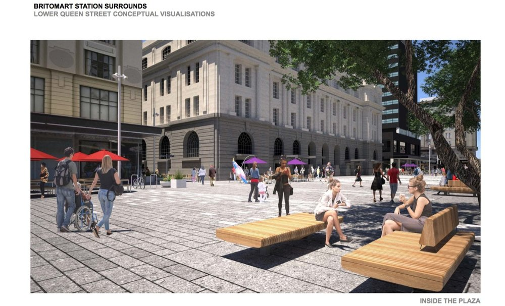 Concept design for Lower Queen St after CRL