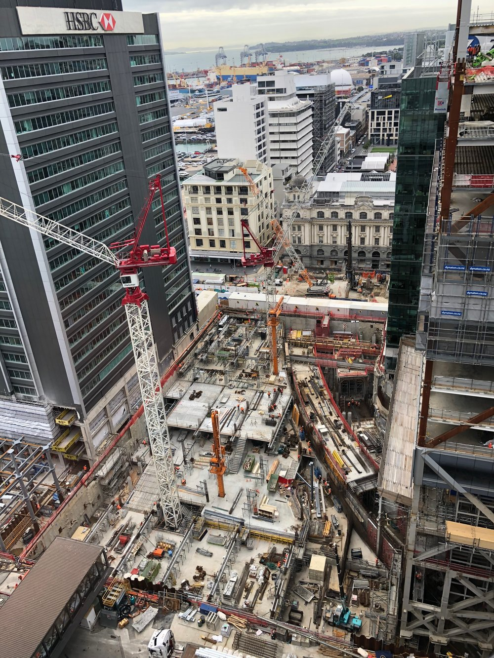 Commercial Bay tunnel construction March 2018