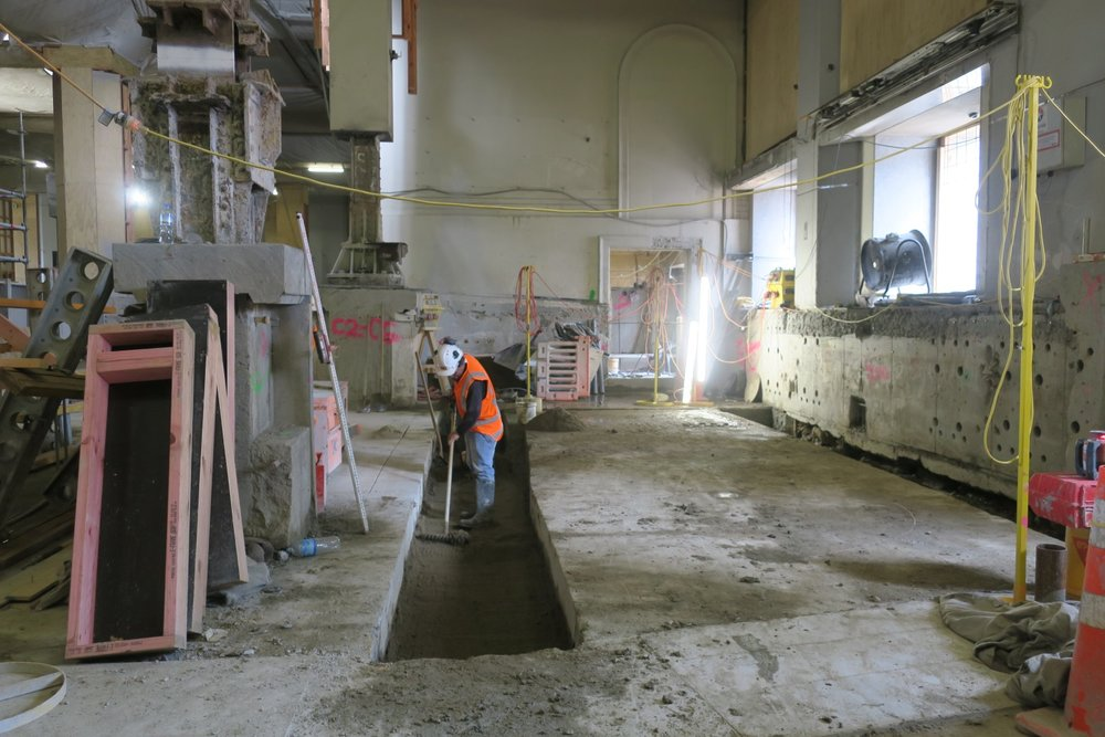 CRL construction inside the Chief Post Office March 2018