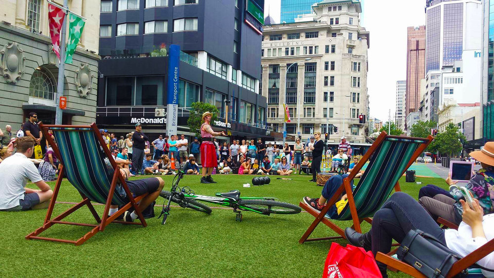 Aucklanders loved the taste of having a public square again in this temporary pop-up prior to CPO construction works starting.