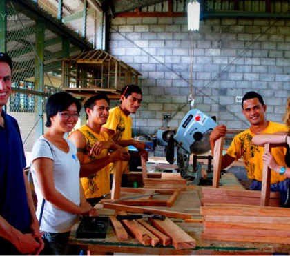SAMOA: J  enny worked with the Engineers Without Borders NZ group in a technical training school in Samoa