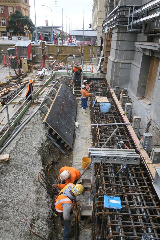 CRL construction Lower Queen Street March 2018