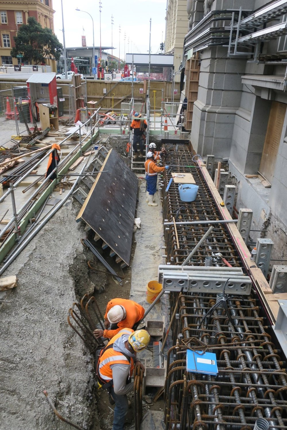Prepping for concrete pour for new underpinning beam.jpg