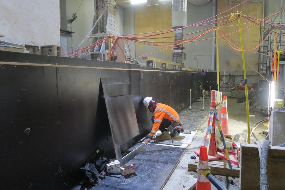 Progress of the new concrete underpinning beam support.jpg