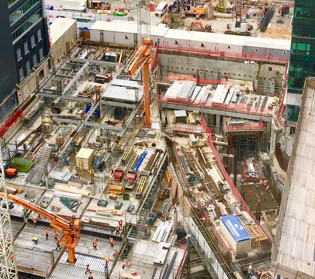 Commercial Bay CRL tunnel construction March 2018