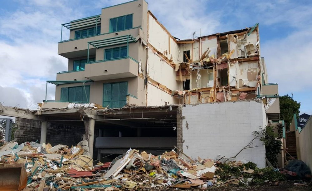 Demolition of an apartment block was needed  before CRL's C6 Mt Eden stormwater diversion could start