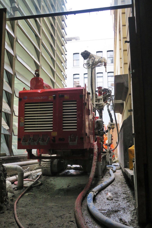 CRL construction work Lower Queen Street May 2018