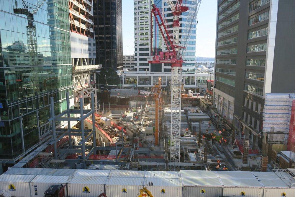 CRL construction work May 2018 Lower Queen Street