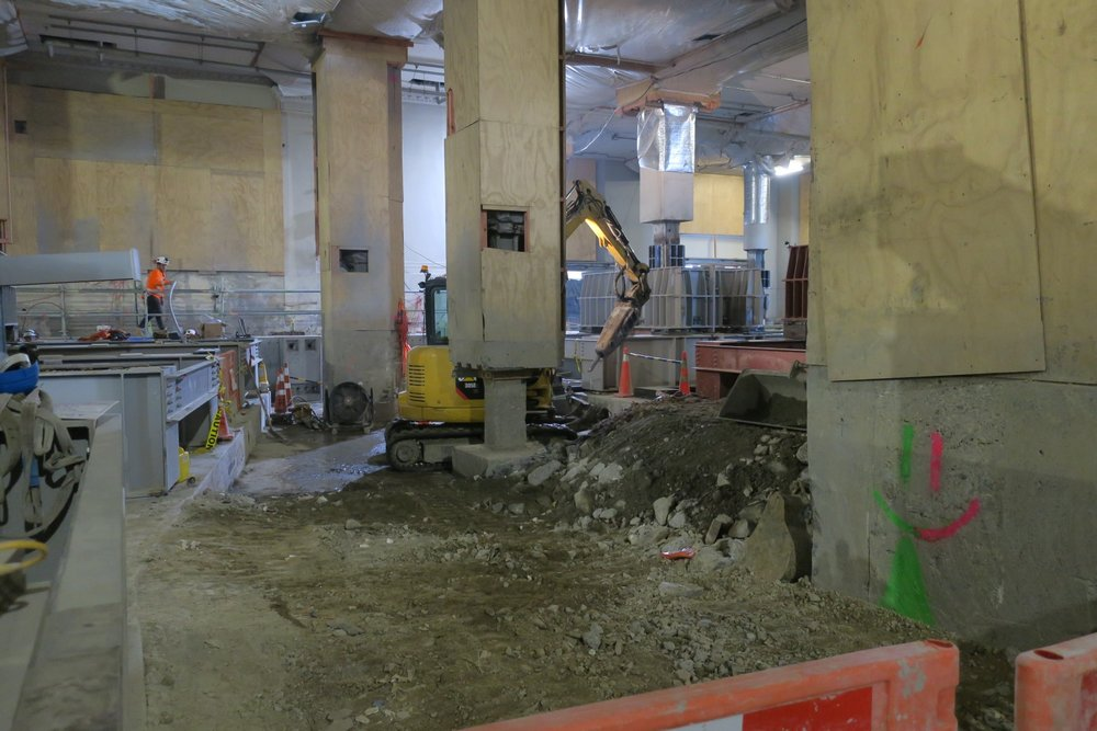 CRL construction inside the Chief Post Office May 2018