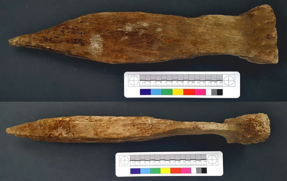 Wooden stake measuring 450mm high discovered near CPO