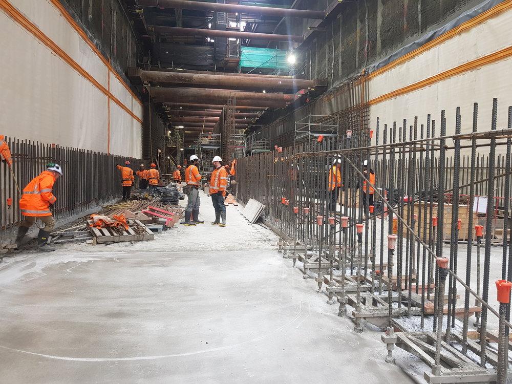 Inside the Albert Street trench