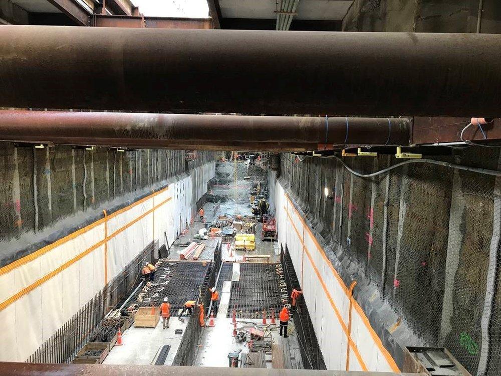 Inside the Albert Street trench September 2018