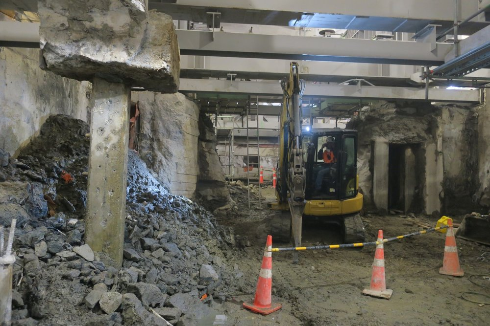 CRL construction inside the Chief Post Office October 2018