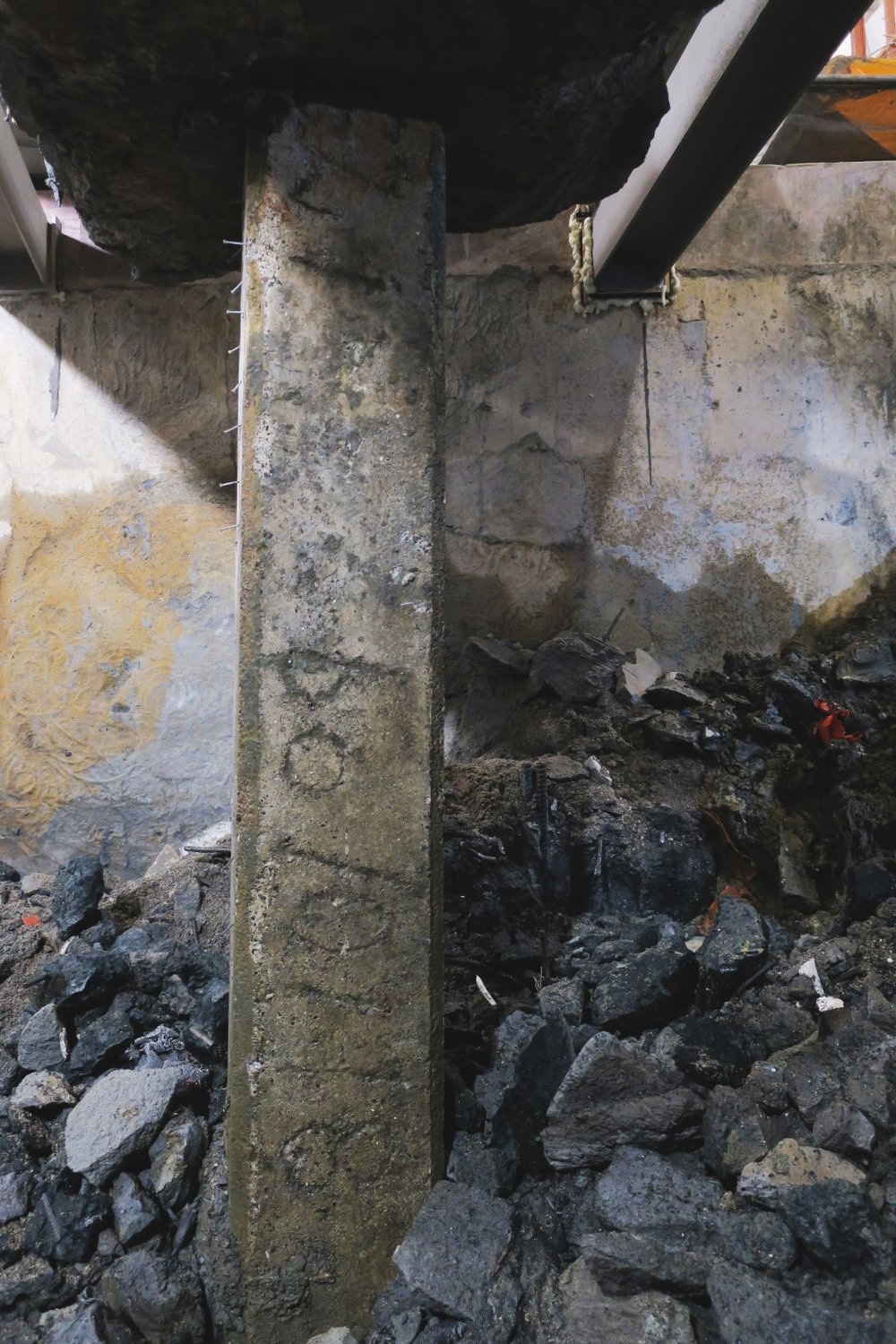 Dated piles found during Chief Post Office construction October 2018