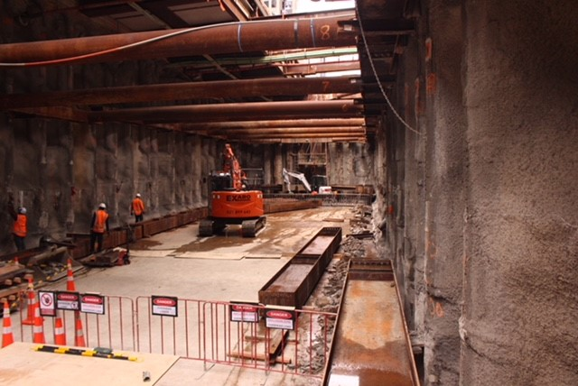Albert Street trench construction October 2018