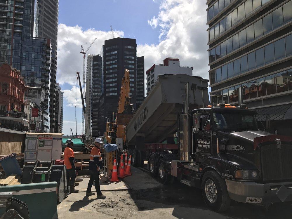 CRL construction work Albert Street October 2018