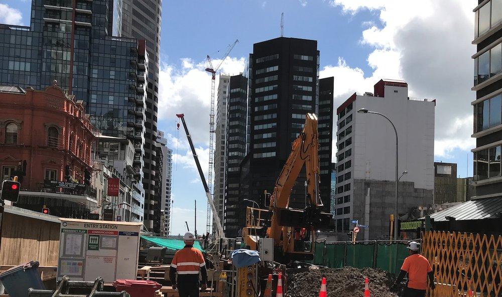 CRL construction Albert Street October 2018