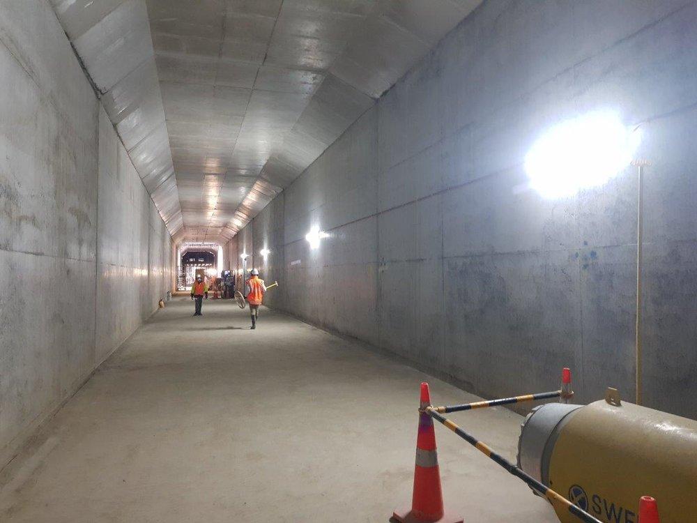 CRL Albert Street trench construction work October 2018
