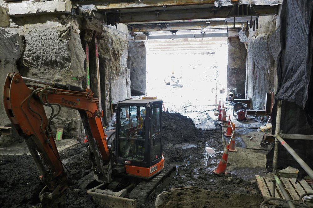CRL construction inside the Chief Post Office building October 2018