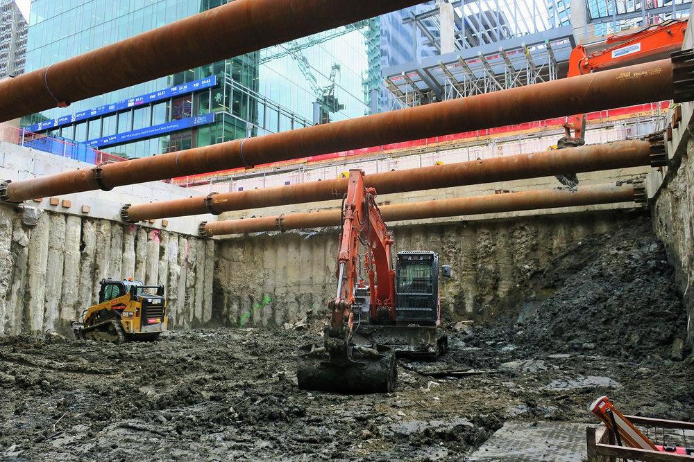CRL trench construction Lower Queen Street October 2018