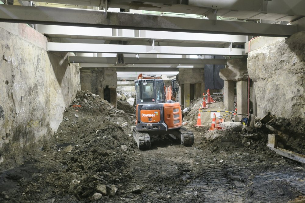 CRL construction Southern trench October 2018