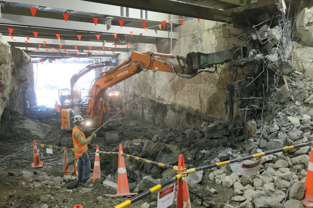 CPO southern trench demolition