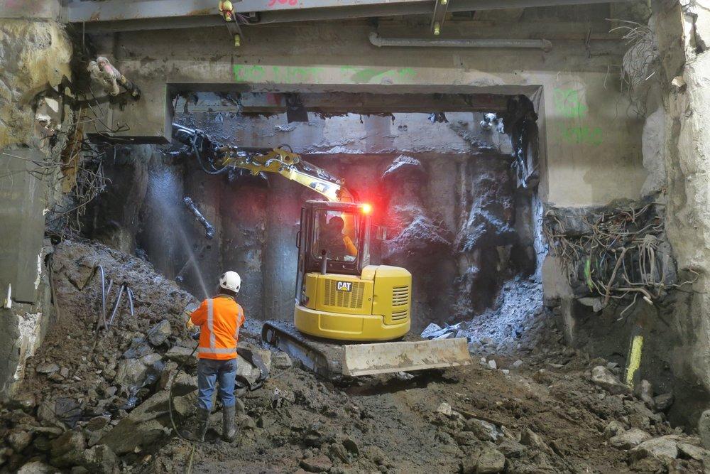 CPO northern tunnel, November 2018
