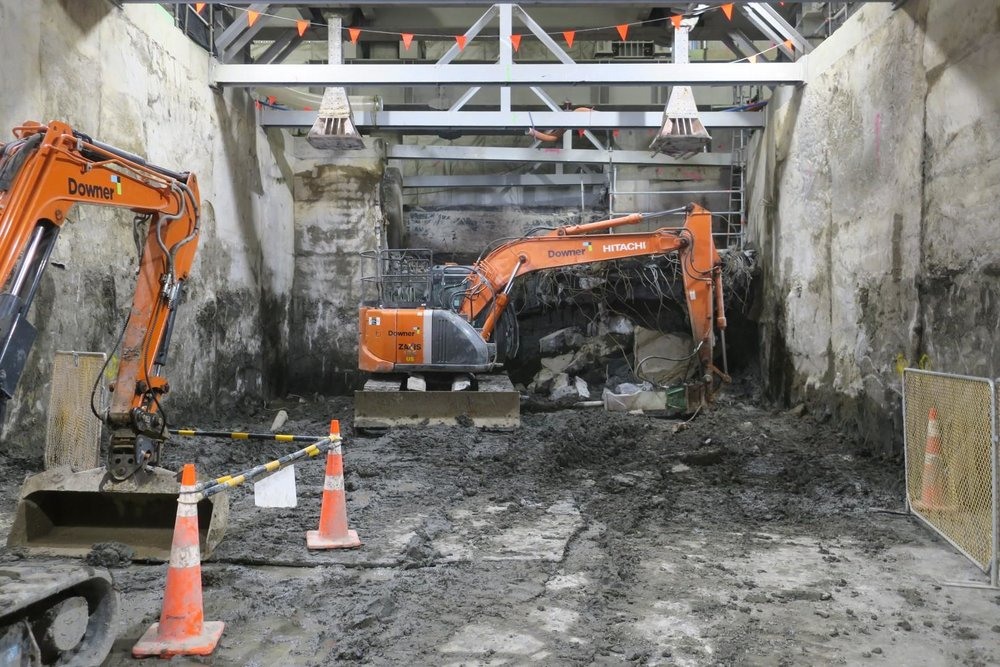 South trench Lower Queen Street November 2018