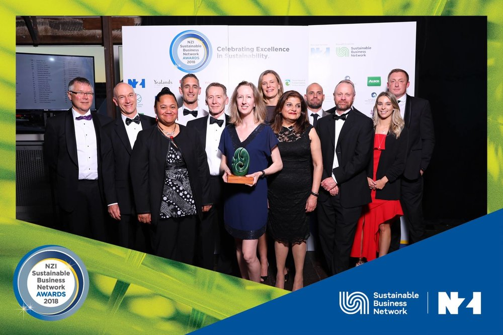 AWARD NIGHT: The City Rail Link team is all smiles after winning the top award