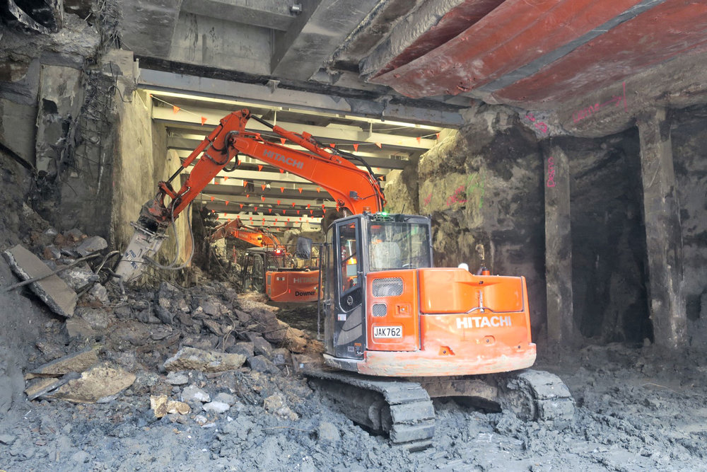 SOUTH: Southern trench demolition