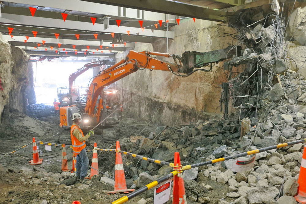 Southern tunnel demolition