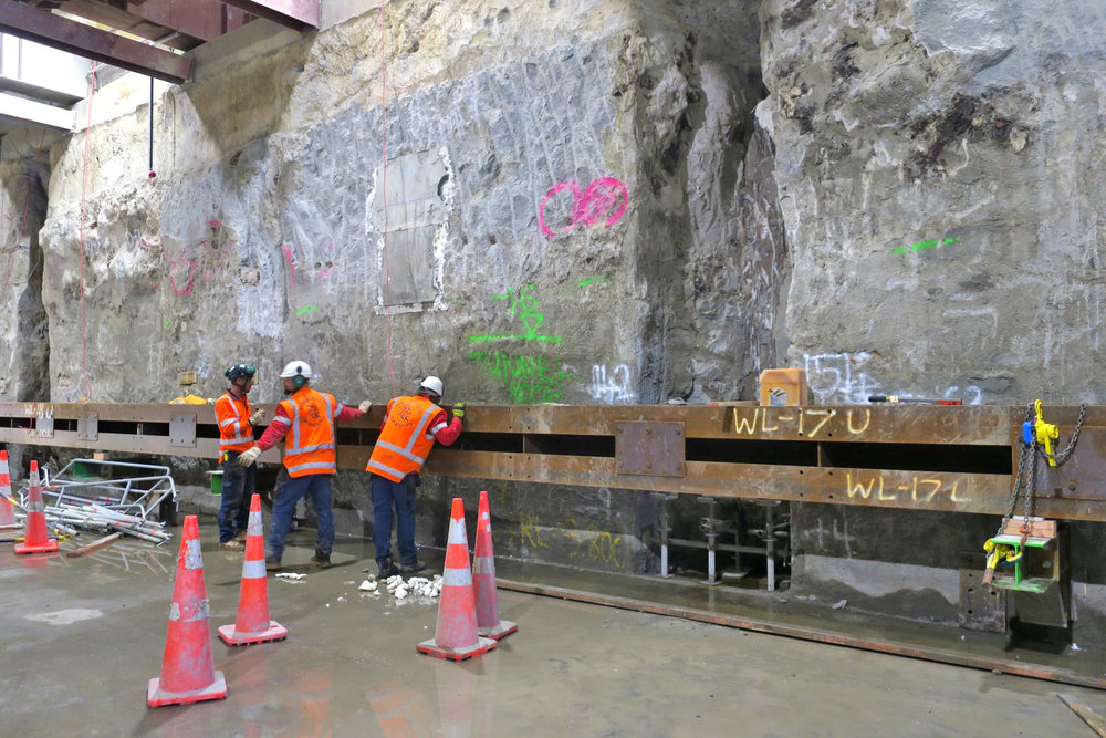 WALER: Waler installation in the Northern tunnel