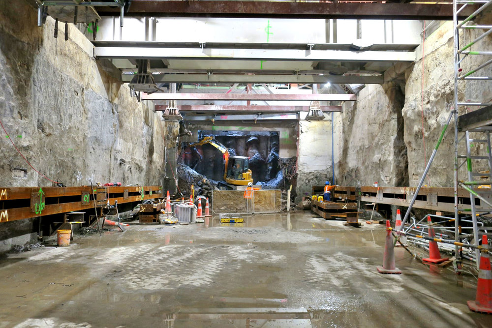 NORTH: CPO/ Lower Queen Street construction - Northern tunnel