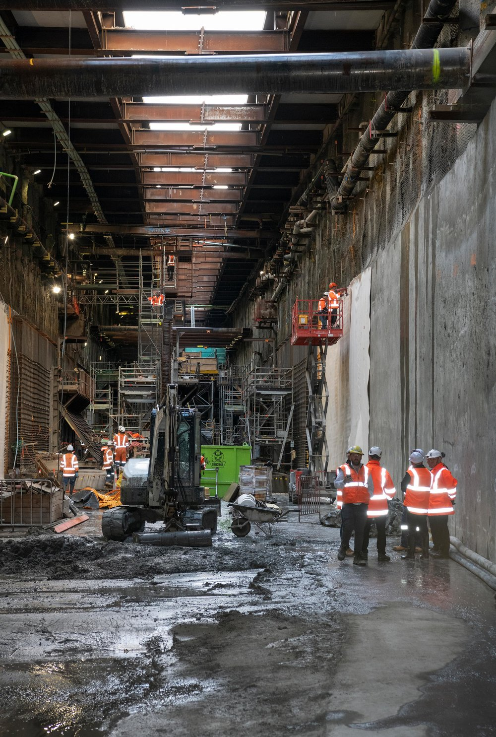 The CRL milestone breakthrough to the Commercial Bay development site from the Albert Street trench tunnels – in downtown Auckland. 5 December 2018.