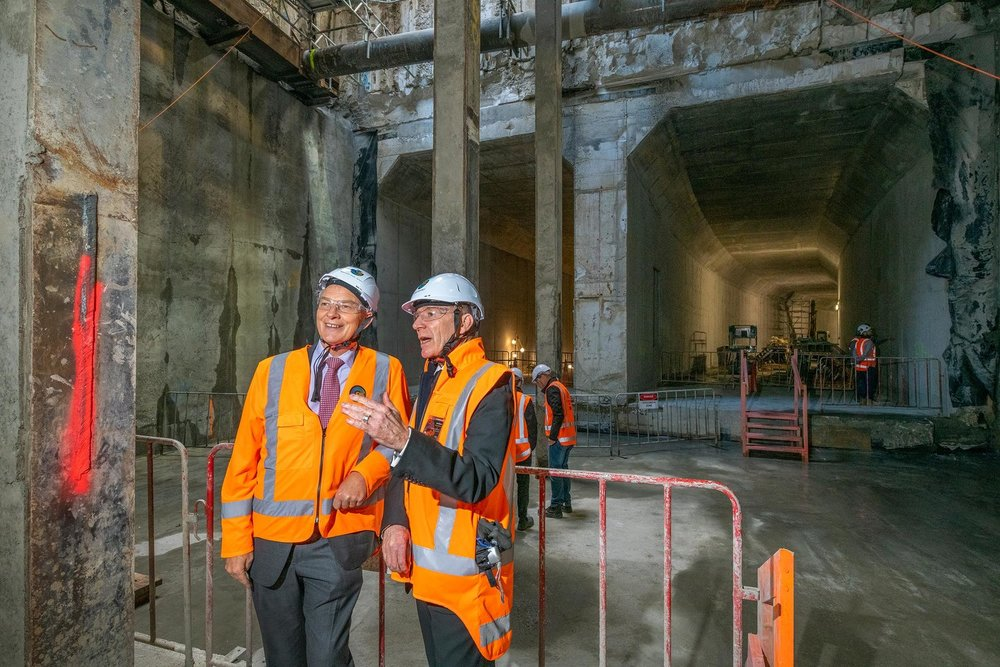 MILESTONE: CRL CEO Dr Sean Sweeney (right) talks with Auckland Mayor Phil Goff