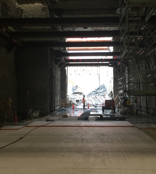 NORTH: The north tunnel - breaking through to Britomart station