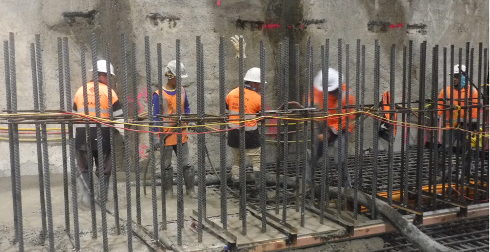First concrete pour under CPO building