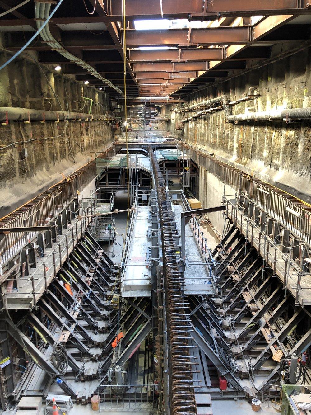 CRL Tunnel box construction beneath Albert Street Auckland 27 Feb 2019